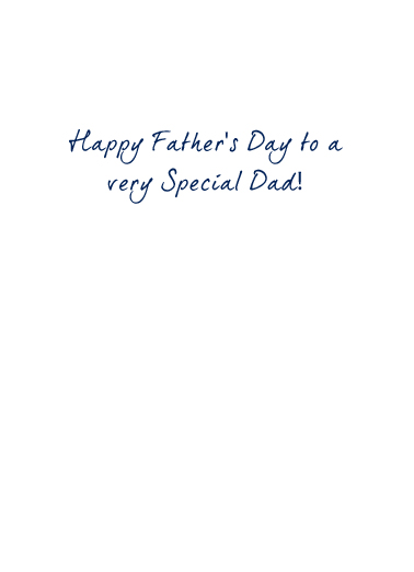 Very Special Dad Father's Day Card Inside
