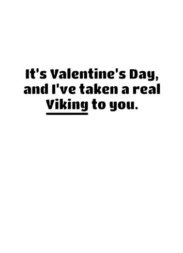 Viking Valentine's Day Card Inside