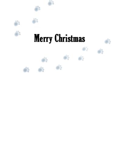 Walking Wiener Christmas Card Inside