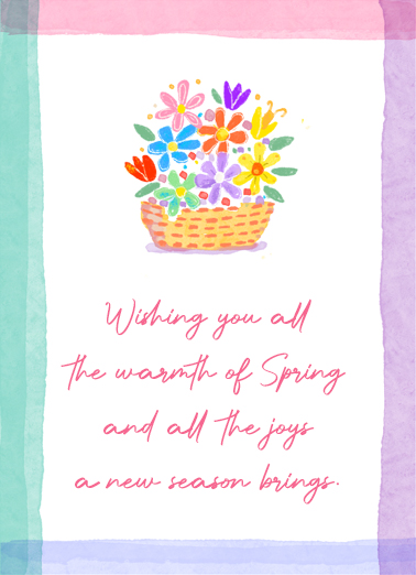 Warm Spring  Card Cover