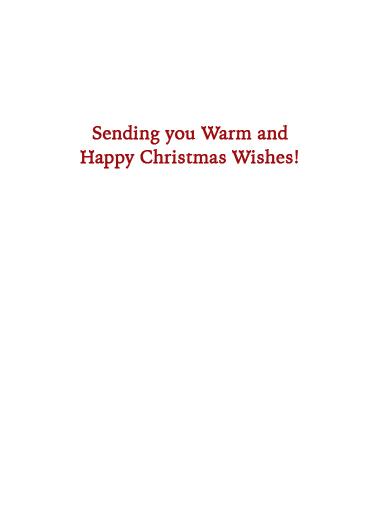 Warm and Happy XMAS Christmas Card Inside