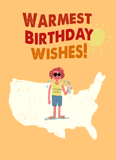 Warmest Summer Birthday Birthday Card Cover