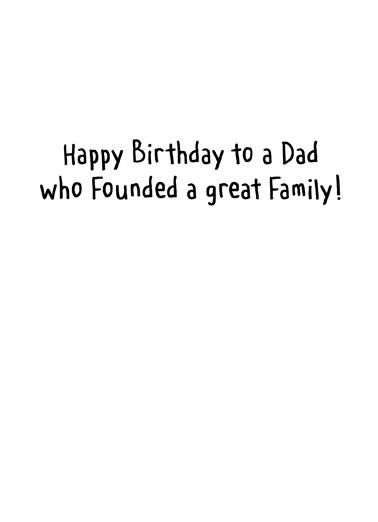 Washington Birthday Birthday Card Inside