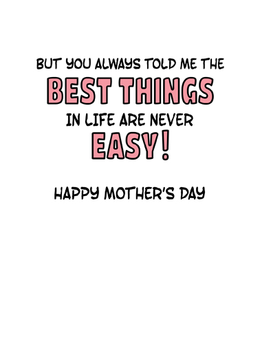 Wasnt Easiest Mom Mother's Day Ecard Inside