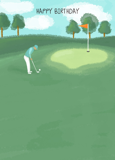 Watercolor Golf Birthday One from the Heart Card Cover