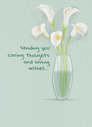 Watercolor Lily Sympathy Card Cover