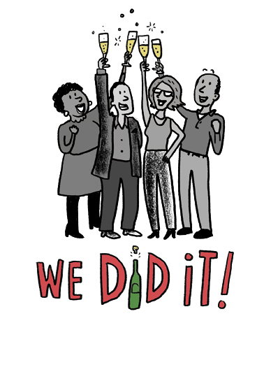 We Did It Congratulations Card Cover
