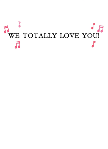 We Totally Love You XMAS Christmas Card Inside