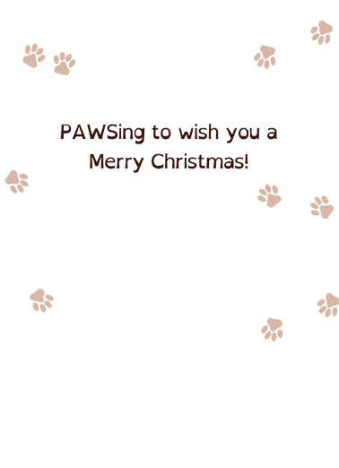 We Woof You Vert Christmas Card Inside