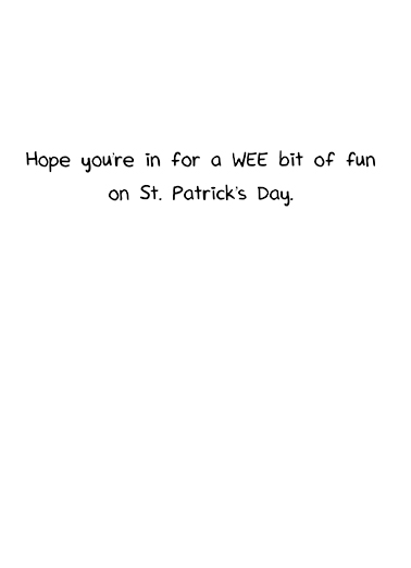 Weener Dogs St. Patrick's Day Card Inside