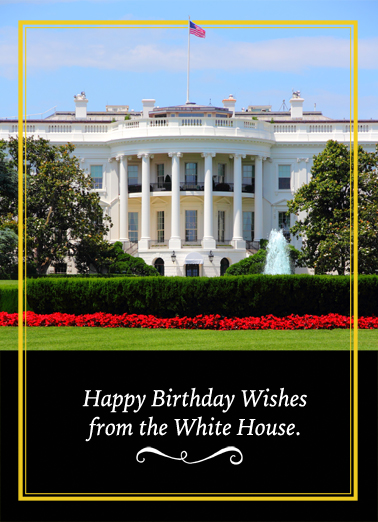 White House Birthday Wishes  Ecard Cover