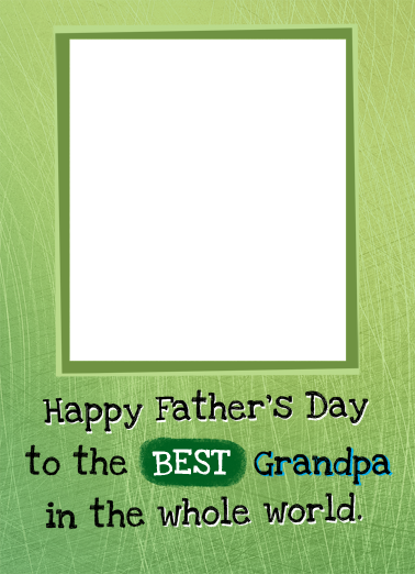 Whole World Father's Day Card Cover