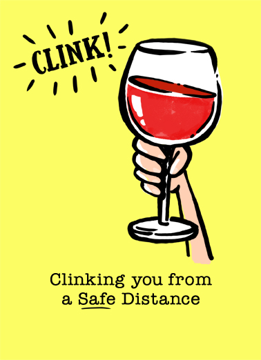 Wine Clink For Any Time Ecard Cover