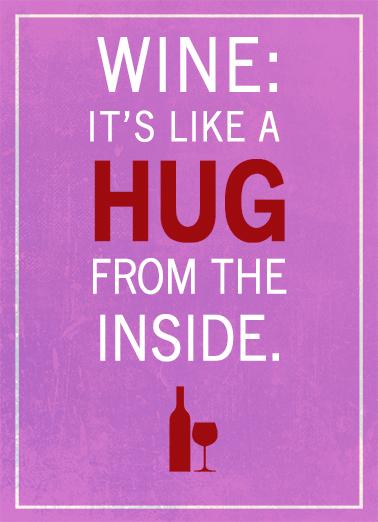 Wine Hug val Valentine's Day Ecard Cover