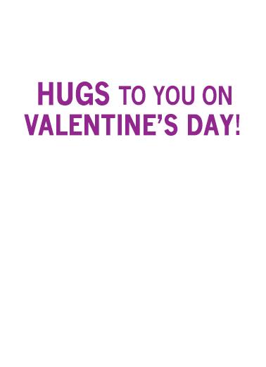 Wine Hug val Valentine's Day Ecard Inside