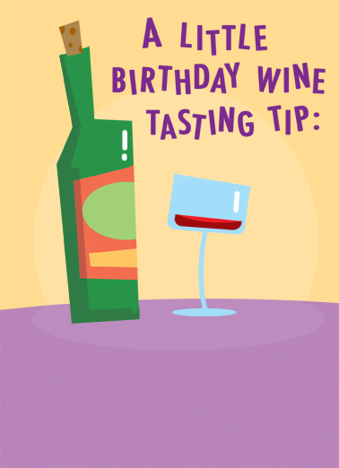Wine Tasting Cartoons Card Cover