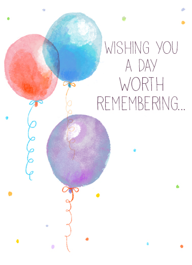 Wishing You Balloons  Card Cover