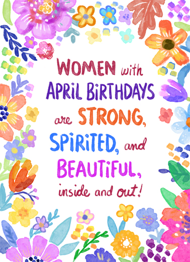 Women with April Birthdays Uplifting Cards Card Cover