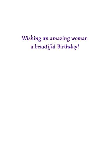 Women with August Birthdays Birthday Card Inside