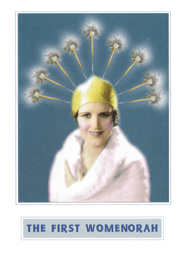 Womenorah Hanukkah Card Cover
