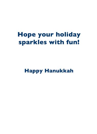 Womenorah Hanukkah Card Inside