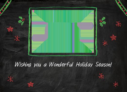 Wonderful Holiday Season Christmas Ecard Inside