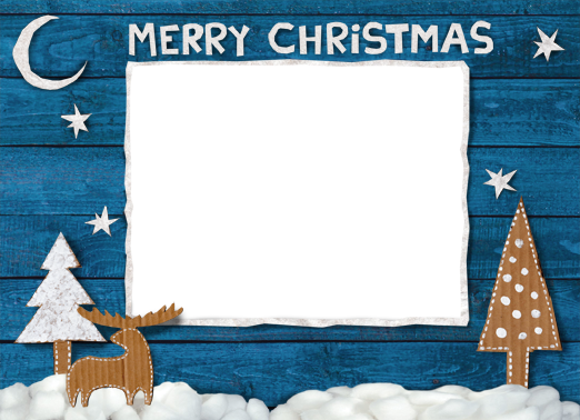 Wood Winter Christmas Card Cover