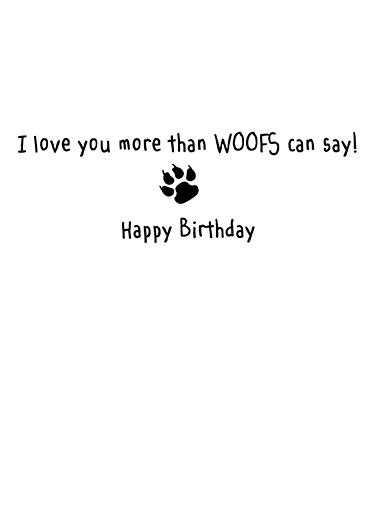 Woofs Birthday Card Inside