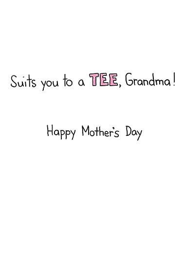 Worlds Best Grandma Mother's Day Ecard Inside