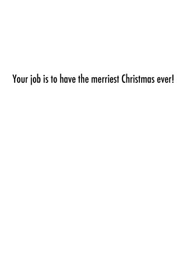 Worst Job XMAS Christmas Card Inside