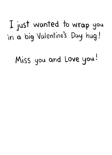Wrap You VAL Valentine's Day Card Inside