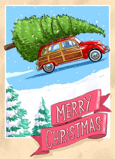 XMAS Headed Christmas Ecard Cover