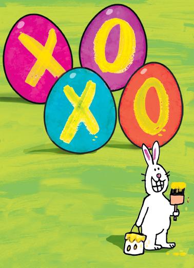 XOXO Bunny Easter Ecard Cover