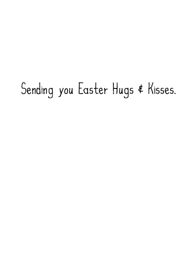 XOXO Bunny Easter Ecard Inside
