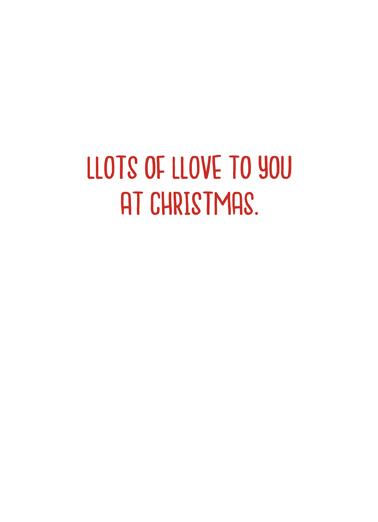 Xmas Llama Christmas Card Inside