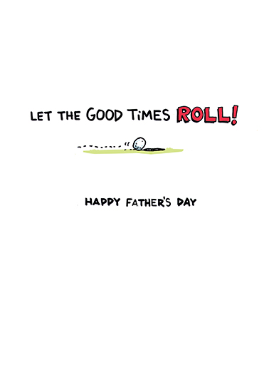 Yes Golfer Father's Day Card Inside