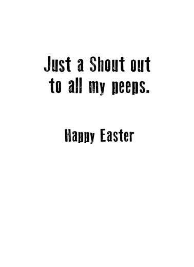 Yo Yo Bunny Easter Ecard Inside
