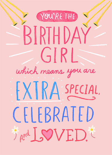You Are Birthday Girl Birthday Card Cover