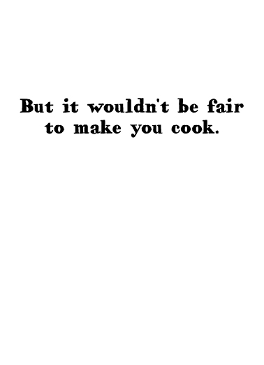 You Cook Mother's Day Ecard Inside