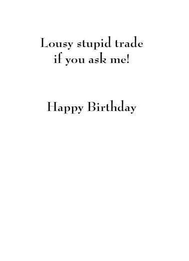 You Get Wiser Birthday Card Inside