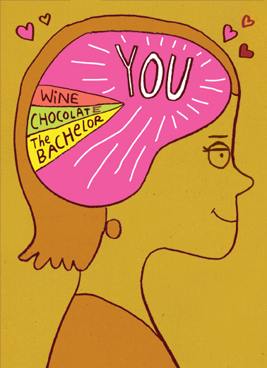 You on Mind Valentine's Day Card Cover