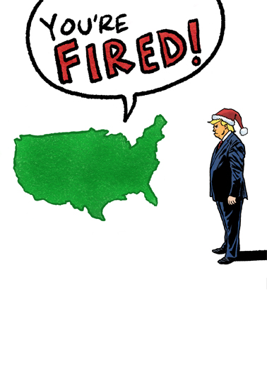 You're Fired Christmas Christmas Card Cover