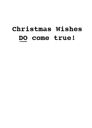 You're Fired Christmas Christmas Card Inside