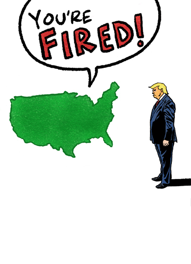 You're Fired Trump Birthday Card Cover