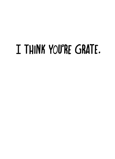 You're Grate Thank You Card Inside