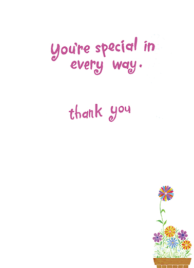 You're Special Thank You  Card Inside