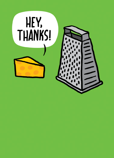 You're Grate Thank You Card Cover