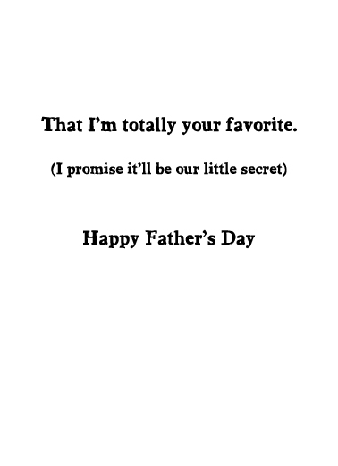 Your Favorite FD Father's Day Card Inside