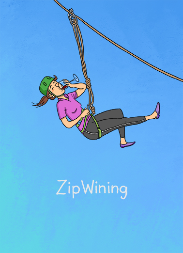 ZipWining Wine Ecard Cover