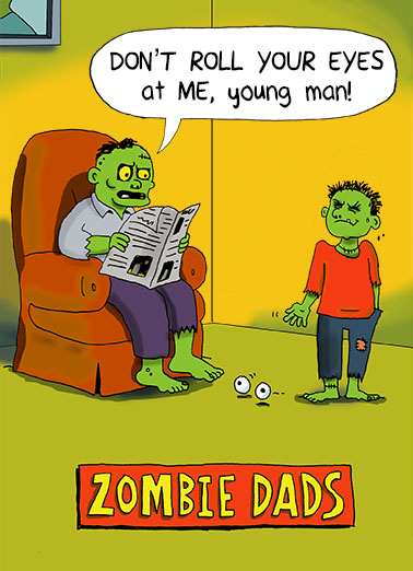 Zombie Dads Halloween Card Cover